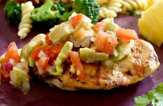 Cilantro-Lime Chicken with Avocado Salsa {Summer Recipe}