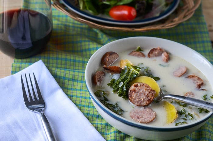 Happymoneysaver.com | The BEST Olive Garden Zuppa Toscana Recipe {and it's all done in the crockpot}