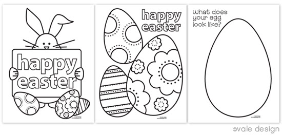 Free Easter Coloring Pages For Kindergarten : Free easter coloring pages happy money saver