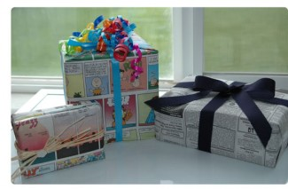 Thrifty Tip Tuesday: Comic Wrapping Paper!