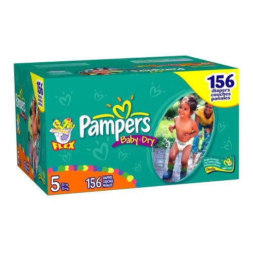 Pampers Baby-Dry Diapers are 3x drier* for all-night sleep protection., Your baby can get up to 12 hours of overnight dryness with Pampers Baby-Dry diapers.