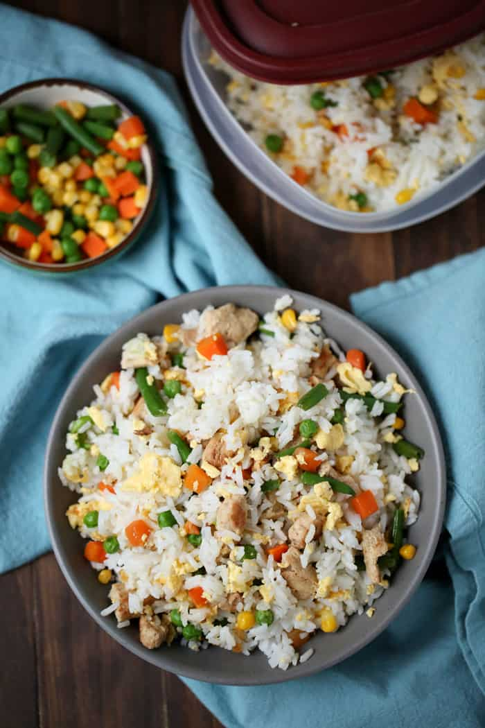 Freezer Friendly Fried Rice Quick Easy Make Ahead Meal