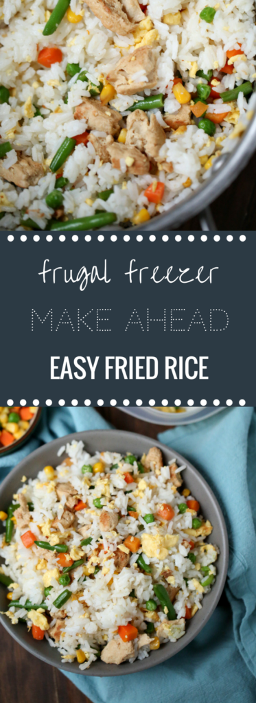 Easy Make Ahead Freezer Friendly Fried Rice | Happy Money Saver