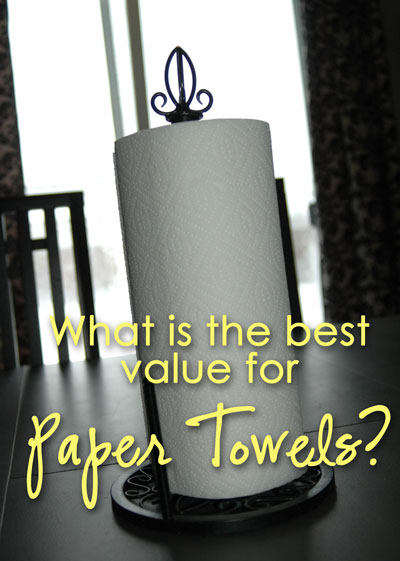 how to find the best deals on paper towels  happy money saver my
