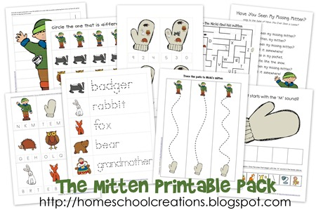 The Mitten printables collage[6]