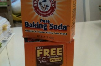 Arm&Hammer Baking Soda boxes with FREE Better Homes & Garden Magazine Subscription