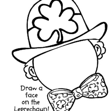 free coloring printable of leprechaun face
