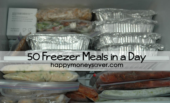 50 Freezer Meals in a day