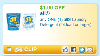 All detergent $1 coupon