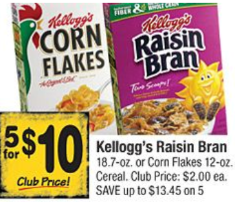 *HOT* Price Match on Kellogg's Cereal as low as $1.38 each