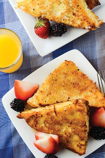 Wonderfully Delicious Coconut French Toast recipe | happymoneysaver.com