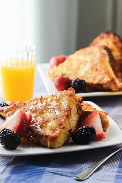 Wonderfully Delicious Coconut French Toast recipe | happymoneysaver.com