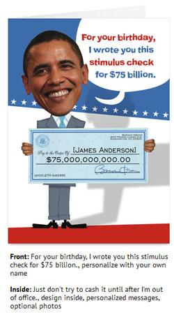 send mitt romney  barack obama political birthday cards through, Birthday card