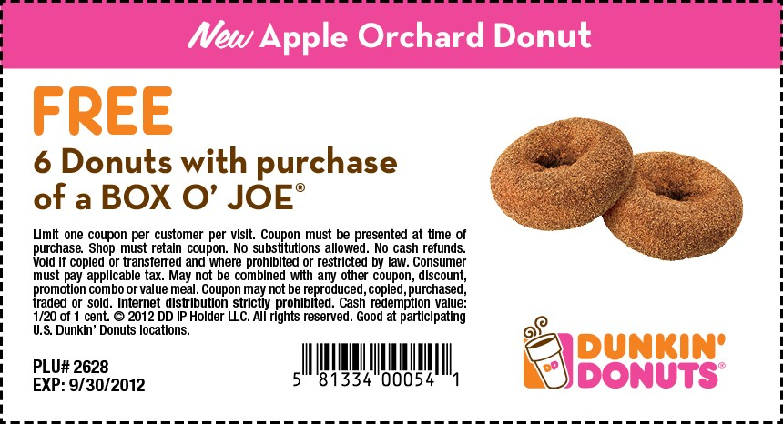 Free cup coupon from dunkin donuts
