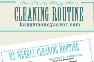 My Ultimate Happy HOME Cleaning Routine Plus FREE Printable Checklist