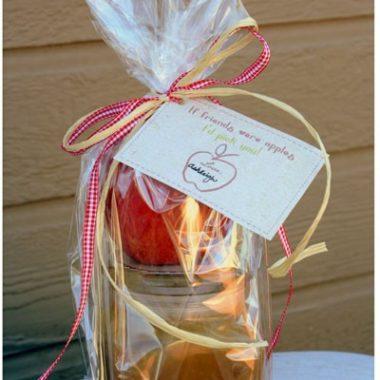 Apple with Homemade Caramel Sauce