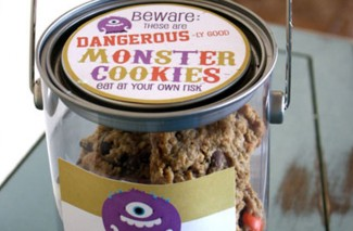 Beware: These are Dangerous-ly Good Monster Cookies