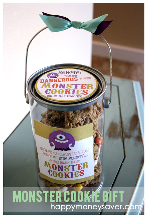 Beware - these are dangerously GOOD Monster Cookies - the cutest fall gift ever!!!