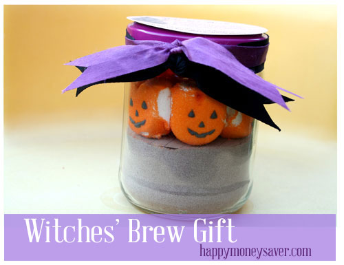 Witches Brew Gift with hot cocoa mix and free printable!