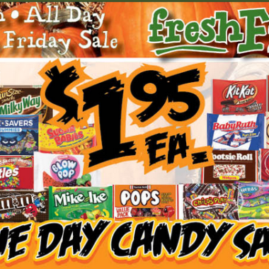 Yokes Candy Sale – Today only (Friday 10/5)