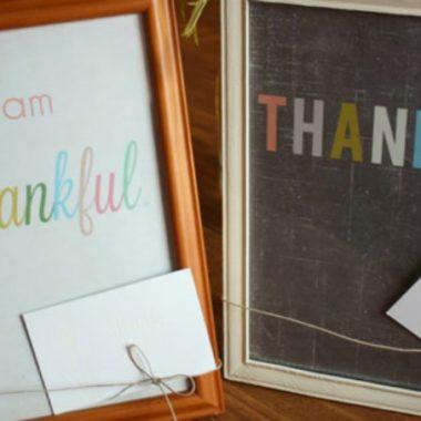 Be Thankful FREE 8×10 Printables