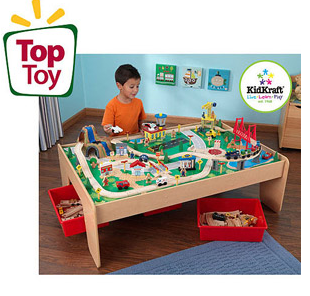 or if you need a bigger one you could also go for this Kidcraft Wooden Train Table 120 piece with 3 bin storage set for $119 shipped!  sc 1 st  Happy Money Saver & Walmart.com - 45 pc Train Table Set + Storage for just $45 shipped ...