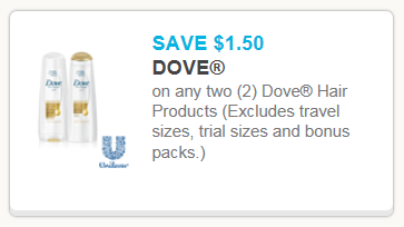 New $1.50 off Dove Hair Products Coupon with Walmart Deal - Happy Money Saver