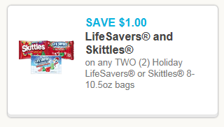 New $1/2 Lifesavers or Skittles Coupon = $0.50 at Dollar Tree!