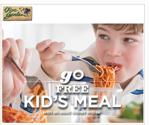 olive garden free kids meal with adult purchase printable coupon