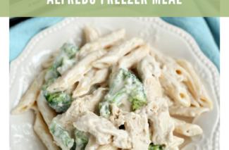 Freezer Recipe: Slow Cooker Chicken Broccoli Alfredo Over Pasta