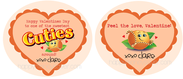 Cuties Oranges Valentines free printable