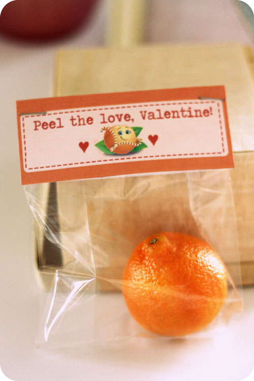 "Such a sweet idea - use Cutie's or Tangerines as a VALENTINE! Includes the most adorable FREE PRINTABLES with sayings like ""Peel the Love, Valentine and ""You are one of the most adorable CUTIES around."" Healthy Valentines Day treat."