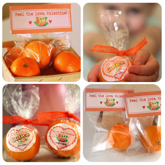 valentine idea of all time use cuties oranges as a classroom handout this would be great for kids and even teachers to hand out to their students