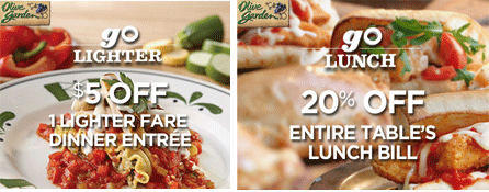 Olive Garden Coupons Off Lighter Fare Entree 20
