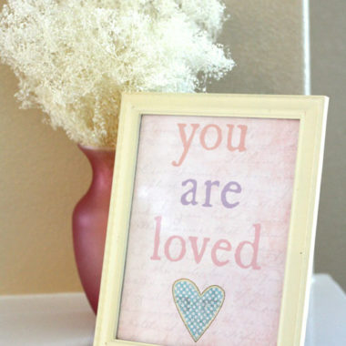 You Are Loved 8×10 Valentines Printable