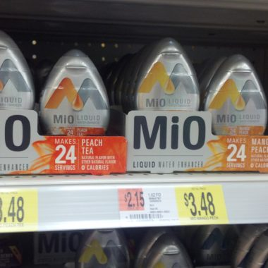 Mio Liquid Water Enhancers only $2.48 each after Ibotta credit and coupon savings