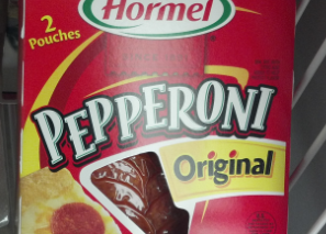 $1/2 Hormel Pepperoni Packages = $0.50 each at the Dollar Tree