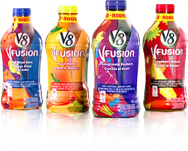 V8 Fusion Juice only $0.25 each after doublers & catalina at Albertsons