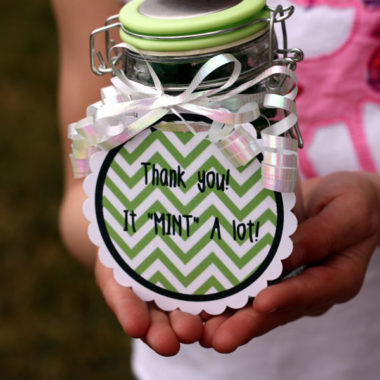 """It """"Mint"""" a lot  {Thank you gift}"""