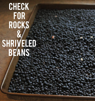 Make sure and check for Rocks when cooking dried beans
