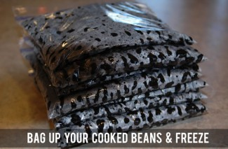 How to Quickly Cook Dried Beans {75 minute No Soak Method} + Freeze them