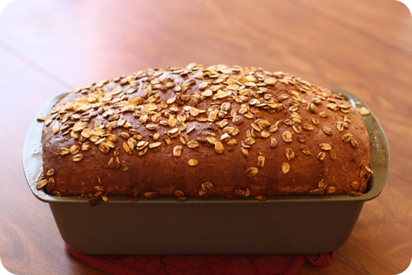 Honey Oat Bread - drizzle honey + oats over it before you bake. To DIE FOR!