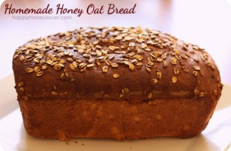 Homemade Honey Oat Bread {happy thoughts}