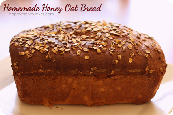 Homemade Honey Oat Bread Happy Thoughts