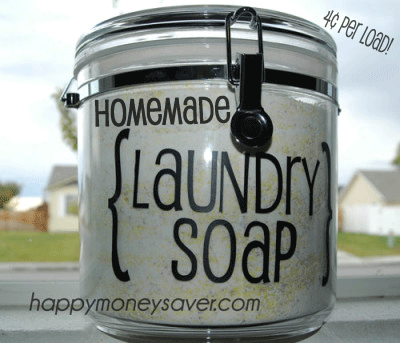 Homemade Laundry Detergent Recipe - Spend $20 for a quick recipe that you just mix up and it lasts a whole YEAR