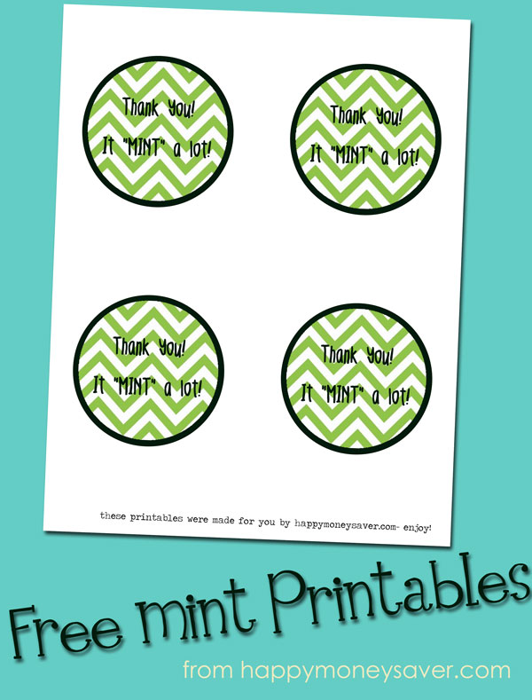 Free Printable for Thank you Gift!