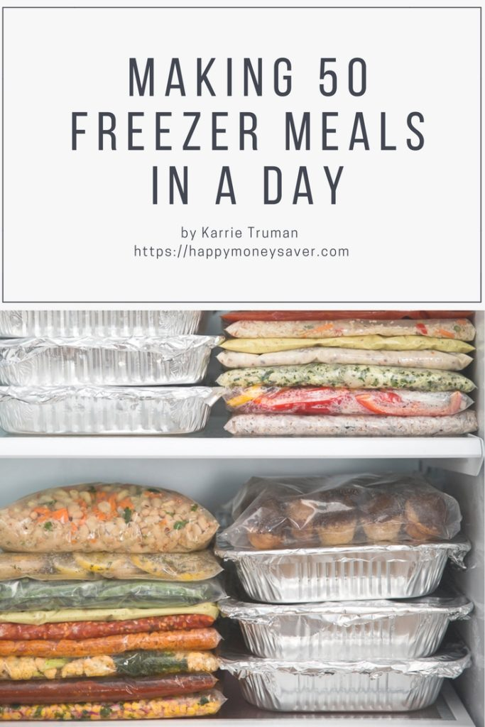 making 50 freezer meals in one day happy money saver