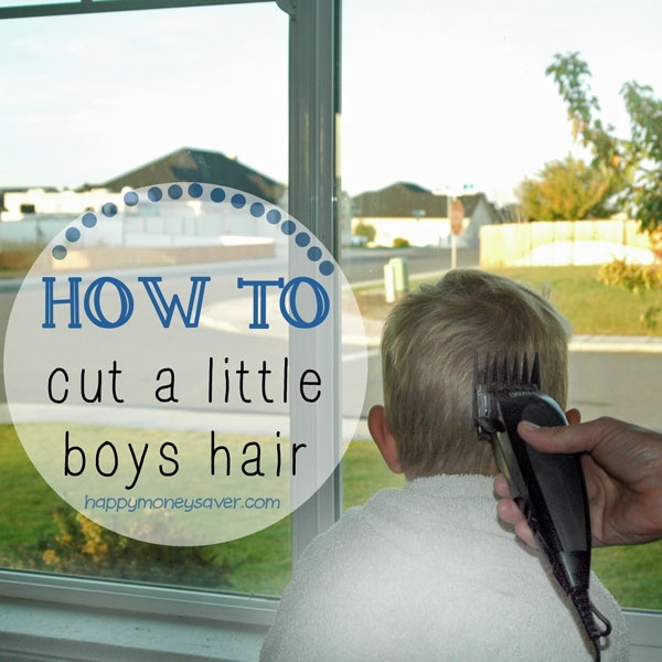 How to cut a little boy's hair to save money. You can do this!!