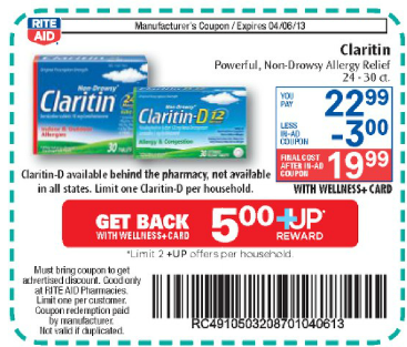 New High Value Claritin Coupons| only $9.99 at Rite Aid