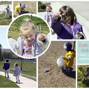 Cleaning up the neighborhood for Earth Day
